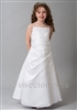 Girls satin embroidered A-line dress– Style FC-Kayla