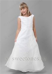 A line white communion dress