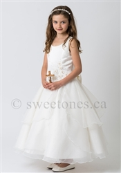 Satin and organza overlay first communion dress – Style FC-Lydia