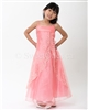 Beautiful coral organza overlay formal dress – Style FG-001-RD