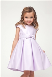 Lilac satin girl formal dress