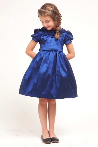 Navy Blue Girl Party Dresses Flower Girl Dresses And Shoes