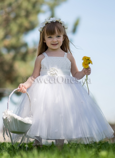 5a571773485 Beautiful satin and tulle princess dress – Style FG-022
