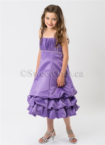 Purple bubble girl party dress