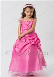 Pink flower girl dress party dress