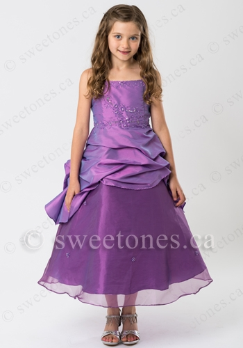 taffeta girl formal dress