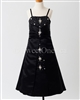 Black A line girl formal dress