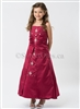 Red A line girl party dress