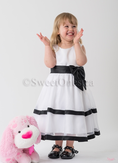 Black and white flower girl dresses flower girl dresses and shoes alternative views mightylinksfo