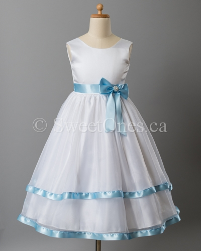 White flower girl dresses flower girl dresses and shoes infant alternative views mightylinksfo