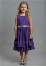 Puple girls chiffon dress – Style FG-Camilla