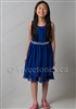 Navy blue party dress flower girl dress