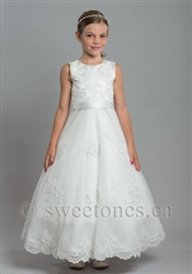 Ivory lace floral tulle dress– Style FG-Victoria-IV