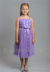 Purple party dress flower girl dress