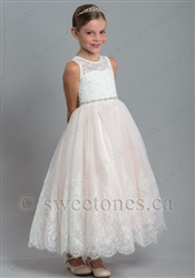 Tulle pink lace dress  – Style FGC-Catherine