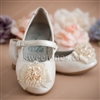 Girl accessories white ballerina flat shoes