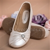 Flower girl accessories ivory ballerina flat shoes