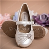 Flower girl accessories white ballerina flat shoes