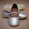 Girl's silver shoes with rhinestone strap - Style G-SHOES-1701