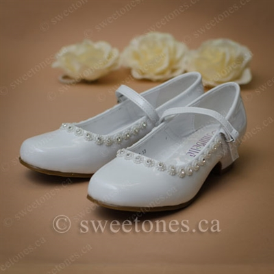 f5a7cc2e5847d First communion girl's heeled shoes - Style G-SHOES-1801