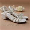 white Pageant Girl Sandals