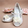 First communion shoes flowe girl shoes