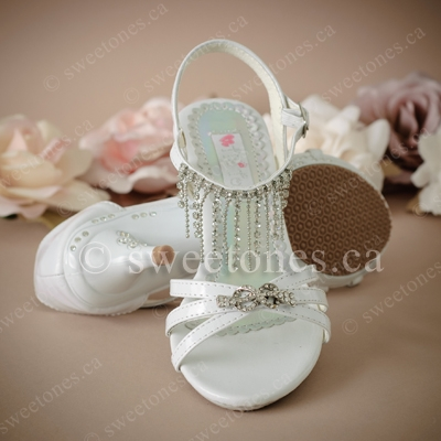 little girl white pageant shoes on sale