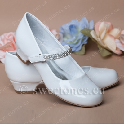 ffe352f804c40 Girl's heeled shoes with rhinestone strap - Style G-SHOES-S77