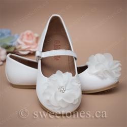 b9233a4b63aa Flower girl ivory ballerina shoes · Flower girl 1st communion girls shoes  Toronto ...