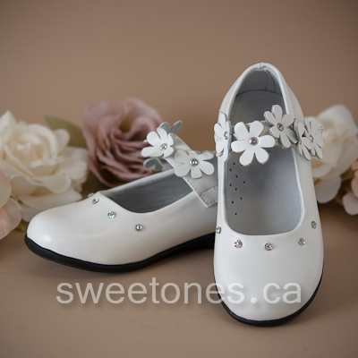 9557536f982 Flower girl white mary jane shoe
