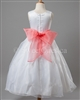 Flower girl pink sash