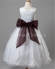Flower girl Dark Brown Blue sash