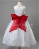 Flower girl red sash