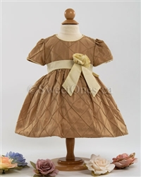 Baby gold taffeta party dress