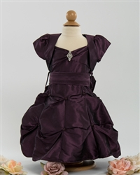 Baby violet taffeta pickup dress with bolero
