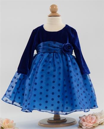 Blue Velvet Baby Party Dresses Baby Dress Infant Baby