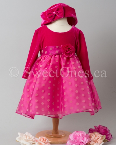 Pink velvet Baby party Dresses | Baby Dress | Infant Baby Dress ...