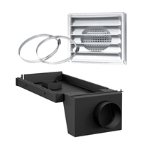"AC01341 5""Ø FRESH AIR INTAKE KIT FOR WOOD STOVE ON LEGS"
