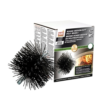 "AC04502 8"" ROUND BRUSH WITH POLYPROPYLENE BRISTLES"