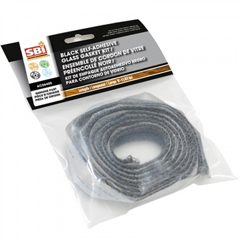 "AC06400 3/4"" (FLAT) X 6' BLACK SELF-ADHESIVE GLASS GASKET"