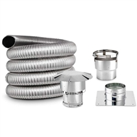 Smooth and Double ply 20 foot Chimney Liner kit