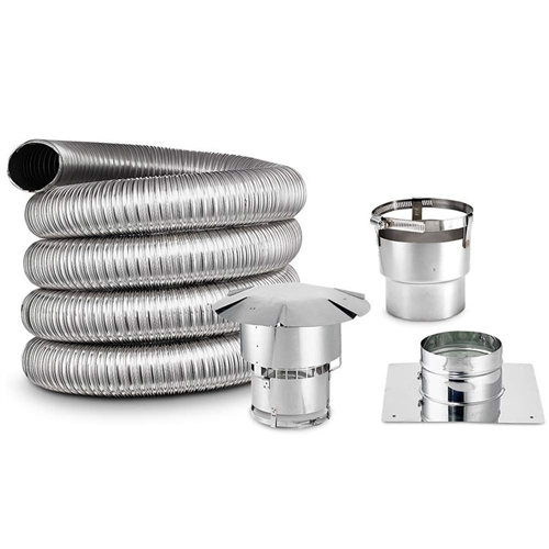 6 Inch Round, Chimney Liner Kit, SINGLE PLY