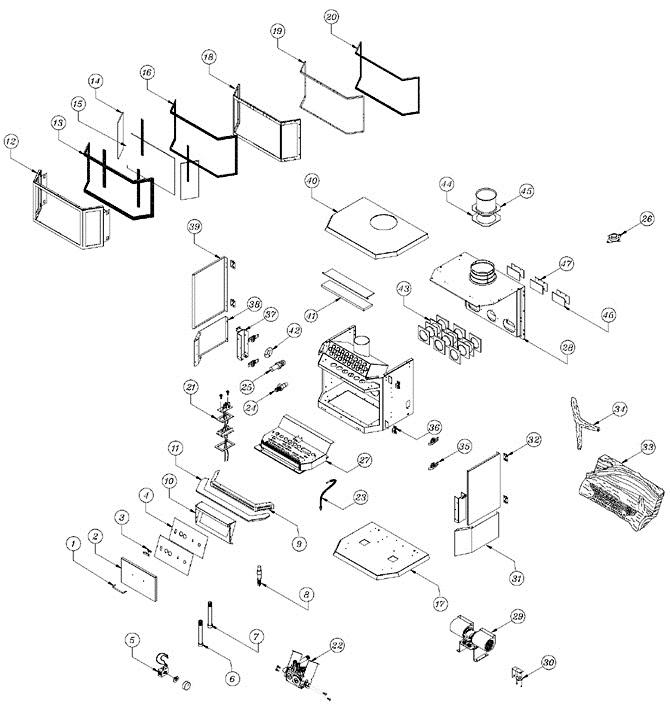 Osburn La30 Stove Parts