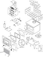 OsburnWoodStoves.com - Every part for the Osburn 900. Select the Osburn 900 part from the drop down menu after looking at the parts diagram.