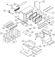 OsburnWoodStoves.com - Every part for the Osburn 1100. Select the Osburn 1100 part from the drop down menu after looking at the parts diagram.