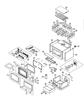 Osburn 3500 Wood Stove Parts Diagram
