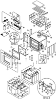 Osburn Soho Wood Stove Parts Diagram OB01520
