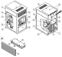 OsburnWoodStoves.com - Every part for the Osburn 7000. Select the Osburn 7000 part from the drop down menu after looking at the parts diagram.
