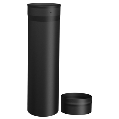 "SP00070 18"" Slip connector single wall black pipe"