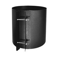 "SP00210 6"" Coupling section single wall black"